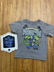Children's Place Toddler Boy T Shirt Prehistoric Rock Dinosaur T Shirt Size 3T