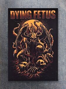 Dying Fetus patch sew on printed textile patch rock brutal death metal grindcore