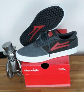 Lakai Skate Schuhe Shoes Manchester Chocolate Grey Reflective Suede 8,5/42
