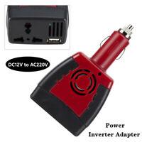 1PC DC12V to AC220V+USB 5V Power Car Cigarette Inverter Adapter Charger US Plug