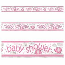 3.65M Rosa Baby Shower Lamina Olografica Striscione Festa Decorazioni Party Supply