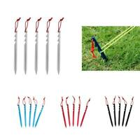 """5 Pieces/Set Aluminium Alloy 7"""" Camping Tent Pegs Stakes Nails Survival Tool Kit"""