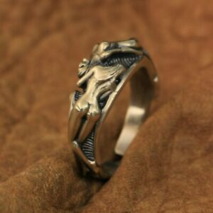 LINSION High Detail Brass Sexy Naked Beauty Skull Ring Mens Punk Ring BR185B
