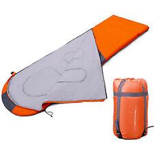 Camping Hiking Travel Sleeping Bag Warm Envelope Hooded Comforter 3 Season