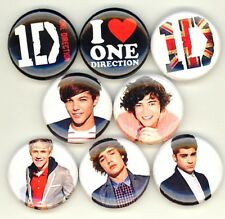 One Direction x 8 NEW 1 inch pins buttons badges 1D boy band