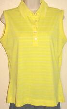 Nike Golf Dri-Fit Sleeveless Yellow & White Top Size Medium