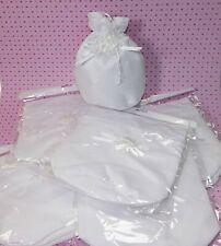 10 Beutel Brautbeutel Brauttasche weiß Hochzeit Tasche Satin Geschäftsauflösung