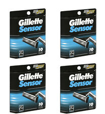 Gillette Sensor Men's Razor Blade Refills, 40 Cartridges (4 pks of 10)