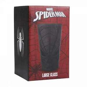 MARVEL COMICS SPIDERMAN BLACK MASK DRINKING GLASS TUMBLER *NEW & BOXED*