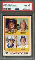 1978 topps #703 rookie pitchers JACK MORRIS detroit tigers rookie card PSA 8