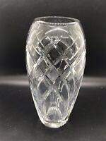 """Rogaska Crystal Large 8"""" Flower Vase Diamond Design"""