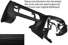 BLACK STITCH DASH DASHBOARD LEATHER SKIN COVER FITS TOYOTA SUPRA MK4 1993-2002