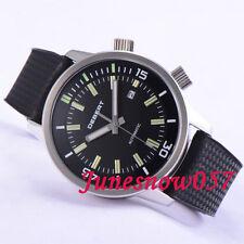 DEBERT 45mm Black dial date window luminous MIYOTA 821A Automatic men's watch 20