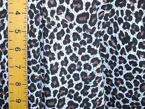 cotton jersey lycra    leopard print