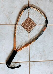 Great cond. E-Force Radium 190 Racquetball Racquet New Strings & Tacki-Mac Grip