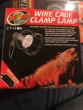 Zoo Med Wire Cage Clamp Lamp Ceramic Reptiles Tortoise Heat New In Box Look Pets