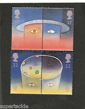 1991 Great Britain #1375a-1377a MNH Space Planet Star stamps