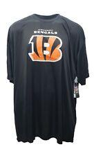 Cincinnati Bengals Majestic Men's Black Logo T-Shirt Big & Tall 5XL