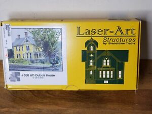 Branchline Laser-Art Structures HO #600 Dubois House FREE SHIPPING! Open Box New