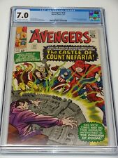 CGC 7.0 AVENGERS #13 1ST APPEARANCE OF COUNT NEFARIA THOR WASP IRONMAN OW/W PGS