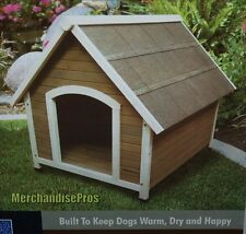 Precision Pet Outback Country Lodge Wooden Dog House For Dogs Up To 65 Lbs. New!
