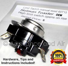 SP-115146 LIMIT SWITCH L190°F Star Holman Toaster L190 manual + Instructions