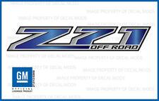 set 2 - Z71 Off Road GMC Sierra 2014-2018 Decals Stickers Fade Sapphire GRSPHIRE