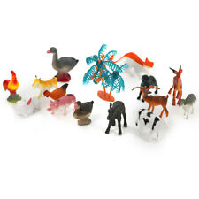 15pcs Farm Animals Toy Figures Country Life Plastic Assorted CowHorse ETC