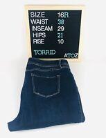 Torrid Womens Dark Blue Stretch Skinny Ankle Denim Jeans Size 16 Regular