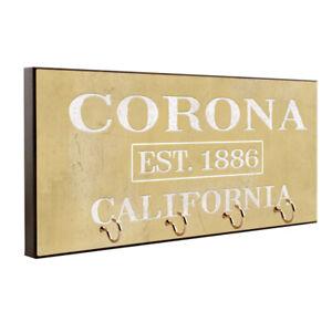 Corona California Est. 1886 Travel Destination Key Hanger / Pet Leash Hanger