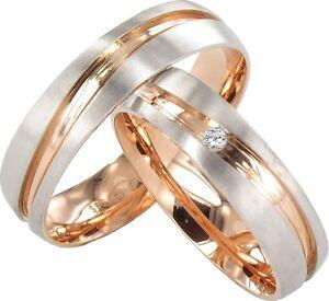 2x JC Trauringe Eheringe 585 Gold Verlobungsring 14Kt. Paarpreis J140