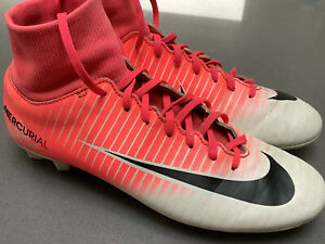 Rare Nike Junior Mercurial Victory VI DF FG Football Boots 903609 601 White Pink