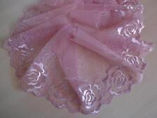 Nicht elastische  Spitze aus St Gallen in orchidee rosa  19cm breit
