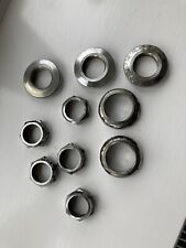 "Old School BMX Raleigh Burner Headset Parts (cups, nuts, no Bearings) 1"" Inch"