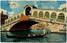 1962 Venezia - Ponte di Rialto, gondola, Bassano Gropello Cairoli FP COL VG ANIM