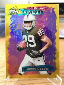 2015 Topps Finest Amari Cooper Rookie 1995 Gold /199 Raiders Cowboys
