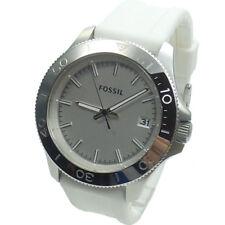 Fossil Herrenuhr AM4471 Retro Traveler Kautschuk Armband Uhr weiß Uhren NEU