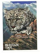 Bhutan MS mint SNOW LEOPARD Big Cat
