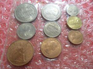 1953 Elizabeth II coin set in plastic wallet.