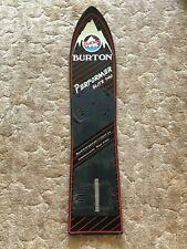 1980's BURTON PERFORMER ELITE 140 Vintage Original Snowboard Black & Red