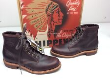 Chippewa Aldrich 6 Inch Utility Boots Cordovan Leather Men's Size 9.5 D