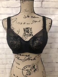 Soma Stunning Support Balconet Black Nude Lace Bra Size 34C