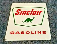VINTAGE SINCLAIR GASOLINE PORCELAIN PUMP PLATE OIL SERVICE STATION DINOSAUR SIGN