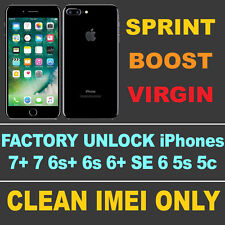 SPRINT FACTORY UNLOCK for IPHONE 5s 6 6+ 6s+ SE 7 7+ Clean IMEI FAST PROCESSING
