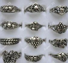 12pcs Retro Vintage Rings Wholesale Jewelry Tibet Silver Plated Free Shipping BF