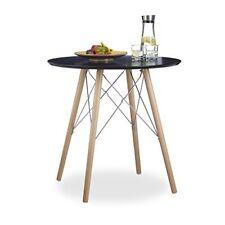 Relaxdays Arvid tavolo da cucina legno Nero 75x75x72 cm