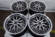 "17"" Wheels Jetta Corolla Lancer Cooper Honda Accord Civic Cobalt Black Rim 4 Lug"