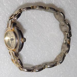 Folio Quartz Wrist Watch Analog Untested Vintage Metal Stainless Steel Back
