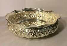 "Large Shiebler Sterling Silver Repousse Bowl 8 3/8"" diameter Real Nice Condition"