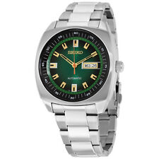 Seiko Recraft Automatic Green Dial Stainless Steel Mens Watch SNKM97